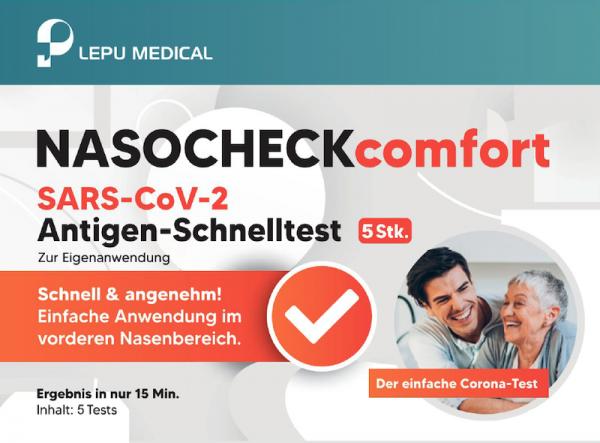 Corona Schnelltest / Laientest (BfArM-zugelassen) Nasal-Test