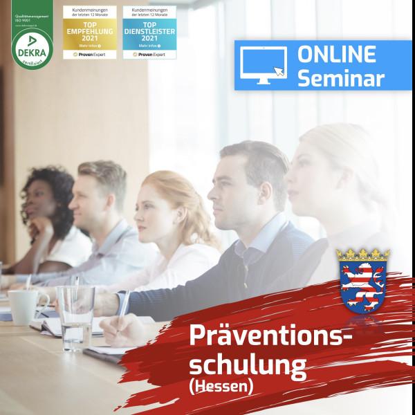 Online Präventionsschulung Hessen Spielhalle 2021