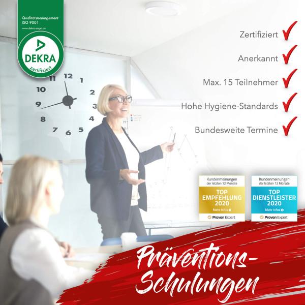 Präventionsschulung Sachsen Spielhalle 2021