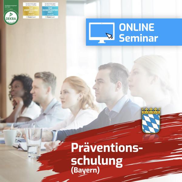Online Präventionsschulung Bayern Spielhalle 2021