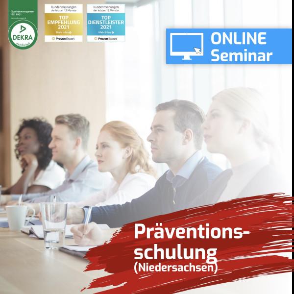 Online Präventionsschulung Niedersachsen Spielhalle 2021