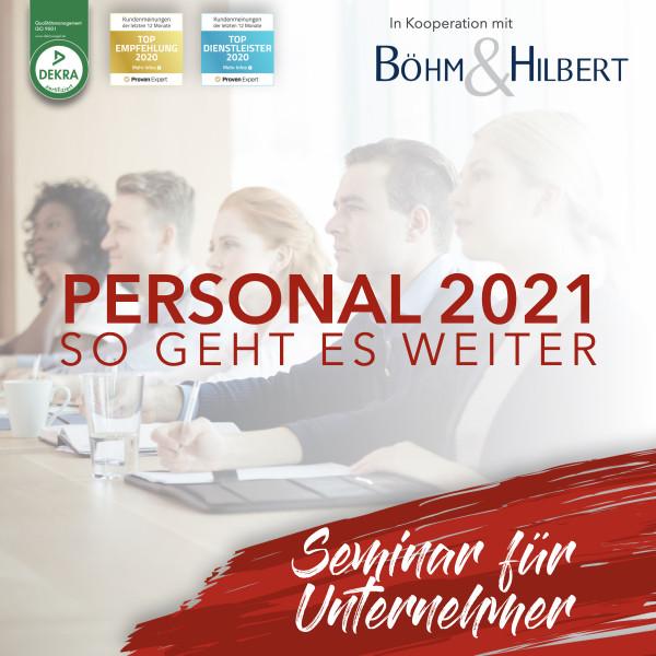 Personal 2021 So geht es weiter Arbeitsrecht Seminar für Unternehmer