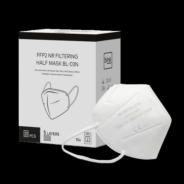 FFP2 Masken, CE Zertifiziert, 540 Stück in weiß